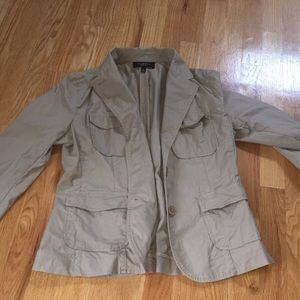 Talbots tan light jacket